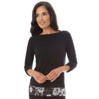 Women's Apt. 9® Mock-Layer Ruched Top