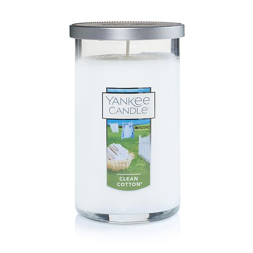 Yankee Candle Clean Cotton Medium Perfect Pillar Candle
