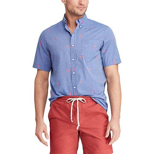 Men's Chaps Classic-Fit Printed Button-Down Shirt