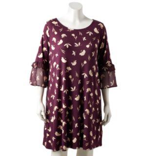 Plus Size LC Lauren Conrad Bell Sleeve Dress