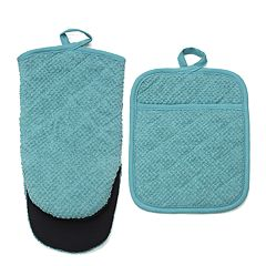 Food Network™ Terry Neoprene Oven Mitt & Pot Holder Set