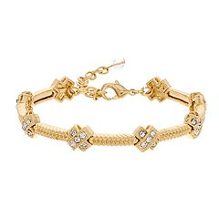 Napier Simulated Crystal Textured Bracelet