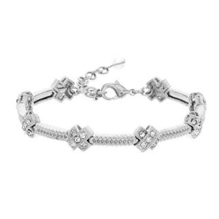 Napier Simulated Crystal Textured Bracelet
