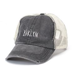 Women's Distressed BRKLYN Trucker Cap