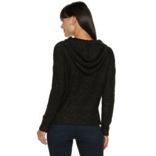 Women's Jennifer Lopez Sequin Hooded Sweater