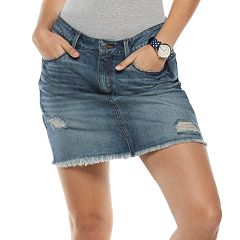 Juniors' Mudd® 5-pocket Denim Skirt
