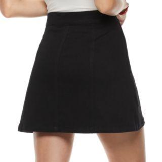 Juniors' Mudd® Button Front Denim Skirt