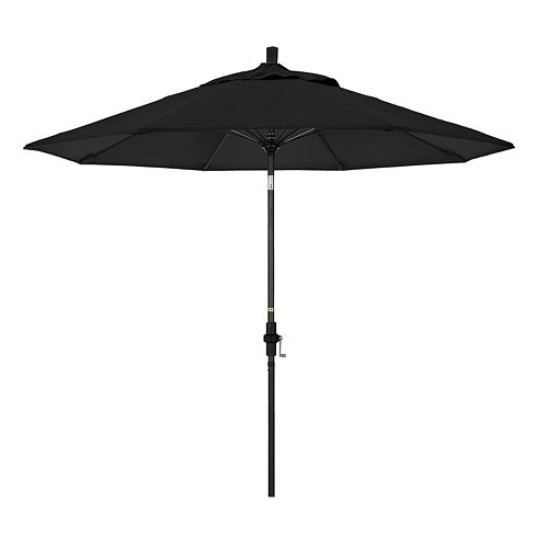 California Umbrella 9-ft. Sun Master Black Finish Sunbrella Patio Umbrella