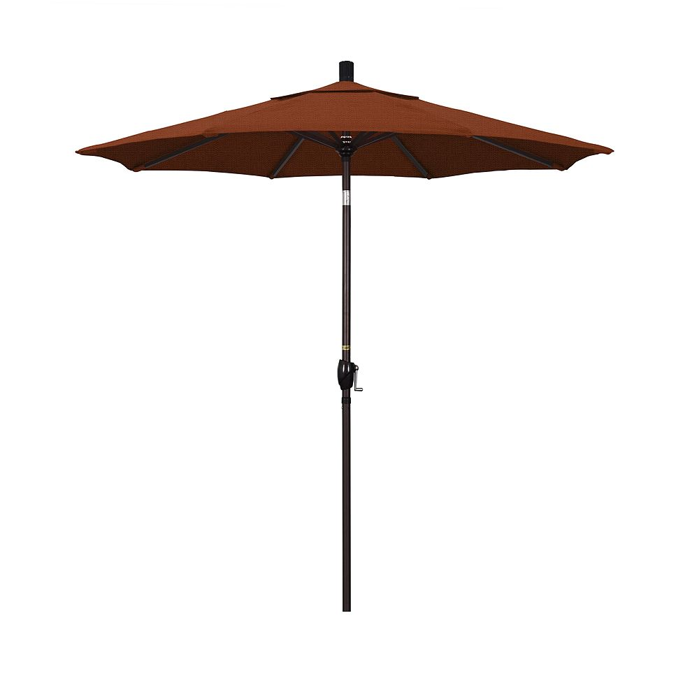California Umbrella 7.5-ft. Pacific Trail Bronze Finish Patio Umbrella