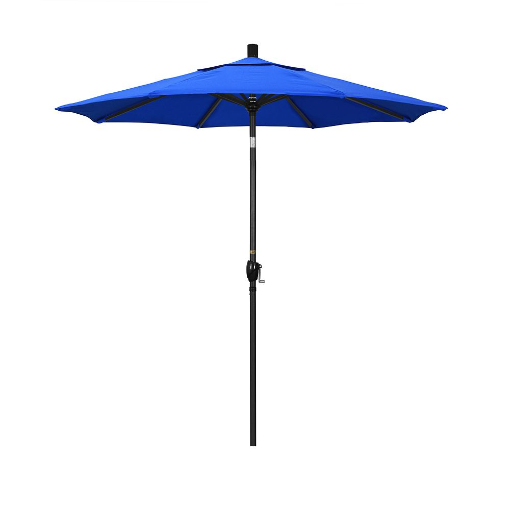 California Umbrella 7.5-ft. Pacific Trail Black Finish Sunbrella Patio Umbrella