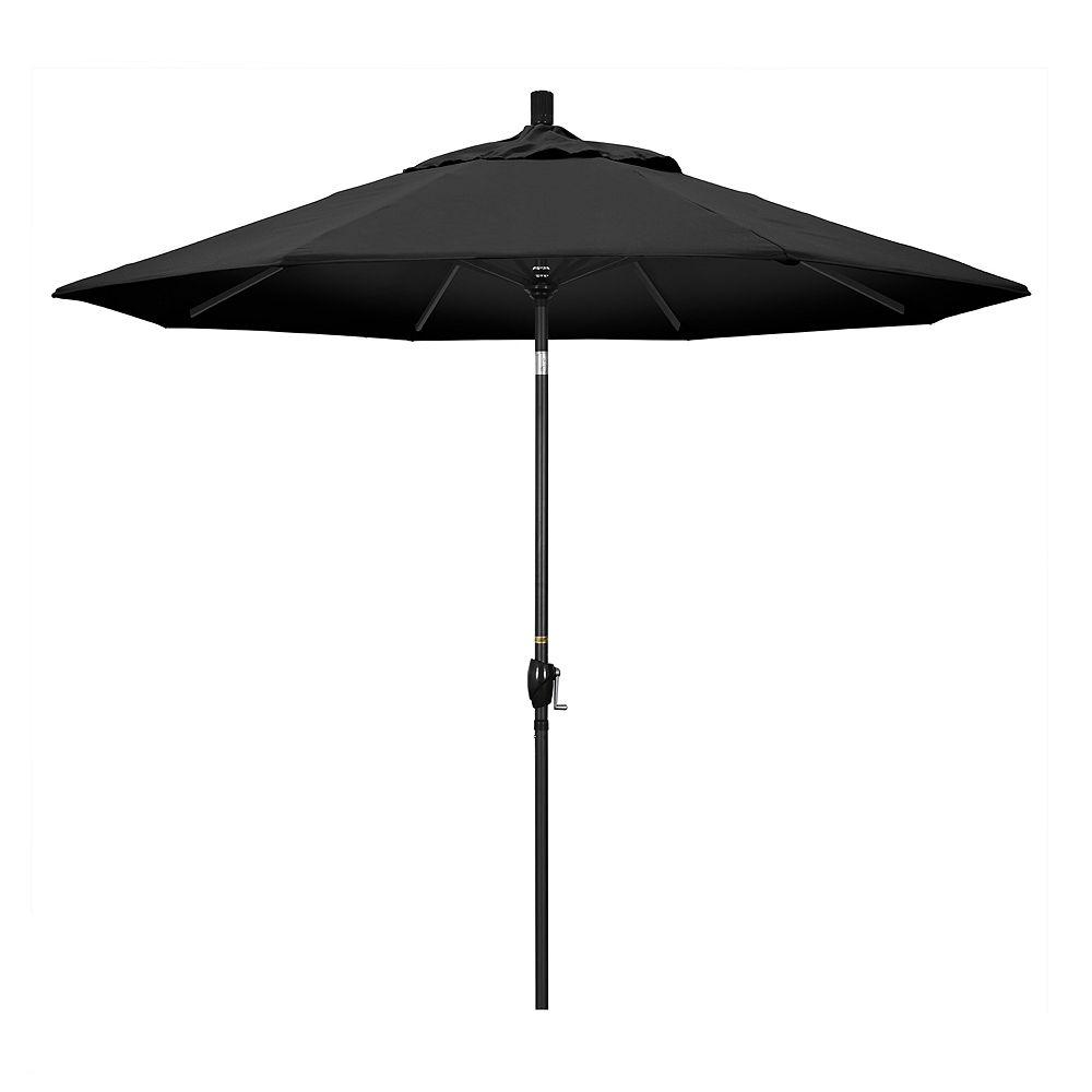 California Umbrella 9-ft. Pacific Trail Black Finish Patio Umbrella