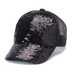 Women's Sequin Trucker Cap