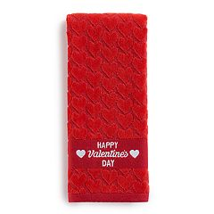 Celebrate Together Red Heart Drop Hand Towel