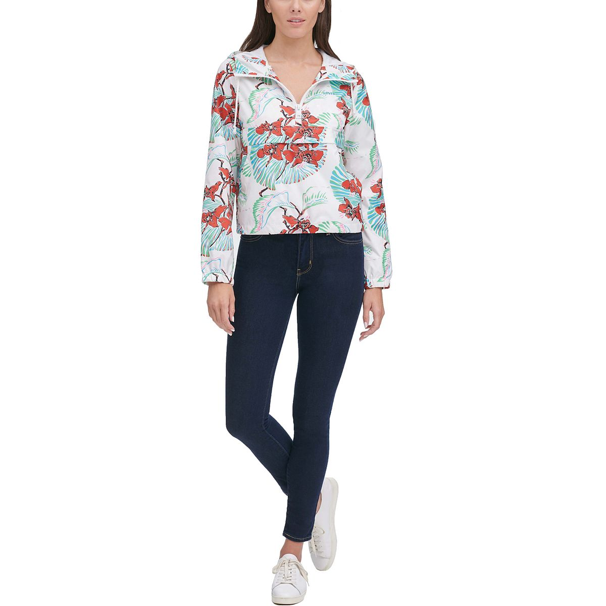 Women's Levi's® Half-Zip Hooded Floral Jacket smPN2