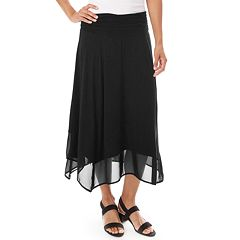 0ba28eb5124 Women s Apt. 9® Handkerchief Hem Midi Skirt. Black Port Navy Taupe