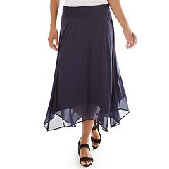 Women's Apt. 9® Handkerchief Hem Midi Skirt