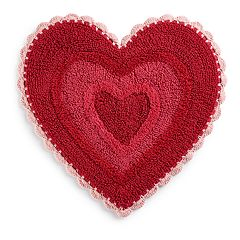 Celebrate Together Crochet Heart rug