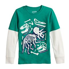 Boys 4-12 Jumping Beans® Mock Layer Slubbed Graphic Tee