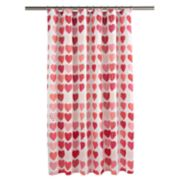 Celebrate Together Hearts Shower Curtain