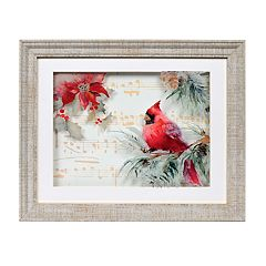 New View Musical Cardinal Christmas Wall Art