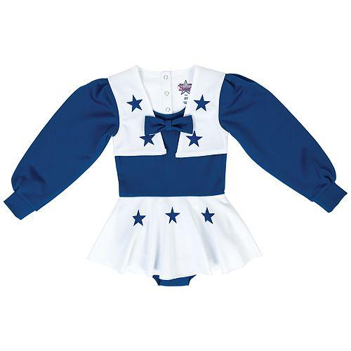 Baby Girl Dallas Cowboys Cheer Uniform Bodysuit