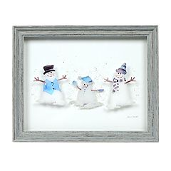 New View Snowman Family Wall Art