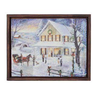 New View Holiday Home Christmas Wall Art