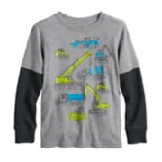 Boys 4-12 Jumping Beans® Mock Layer Softest Graphic Tee
