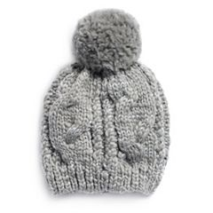 LC Lauren Conrad Cable-Knit Beanie