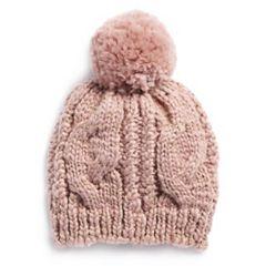 LC Lauren Conrad Cable-Knit Beanie