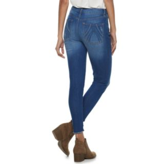 Juniors' American Rag Cutout Hem High-Waisted Skinny Jeans