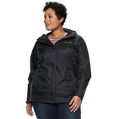 Plus Size Columbia Arcadia II Hooded Packable Jacket
