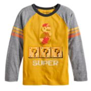 Boys 4-12 Jumping Beans® Retro Super Mario Bros. Raglan Graphic Tee