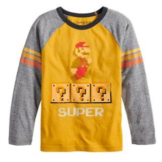 Boys 4-12 Jumping Beans® Retro Super Mario Bros. Raglan Graphic Tee