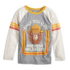 Boys 4-12 Jumping Beans® Smoky The Bear Raglan Graphic Tee