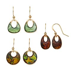 Colorful Nickel Free Geometric Drop Earring Set