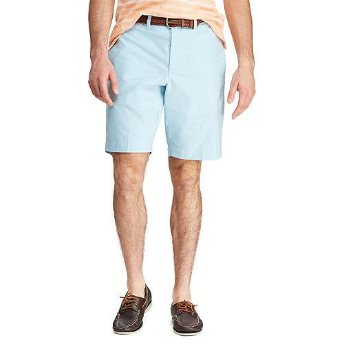 Men's Chaps Classic-Fit Stretch Oxford Flat-Front Shorts