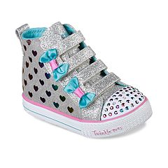 Skechers Twinkle Toes Shuffle Lite Fancy Flutters Toddler Girls'  Light Up High Top Shoes