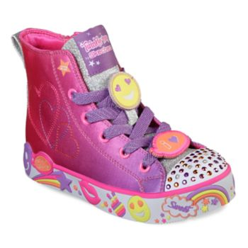Skechers Twinkle Toes Happy Lights Girls' Light Up High Top Shoes