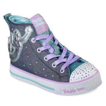 Skechers Twinkle Toes Twinkle Lite Magnificent Mermaid Girls' Light Up High Top Shoes