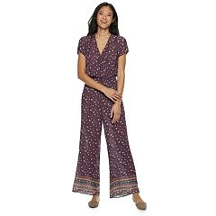Juniors' Rewind Floral Jumpsuit