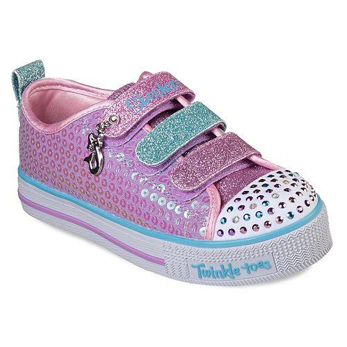 Skechers Twinkle Toes Twinkle Lite Mermaid Magic Girls' Light Up Shoes