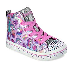 Skechers Twinkle Toes Shuffles Twi-Lites Girls' Light Up High Top Shoes