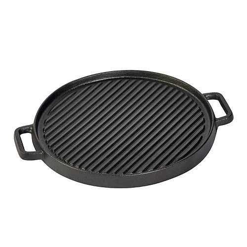 Basic Essentials 12-in. Reversible Cast-Iron Grill / Griddle