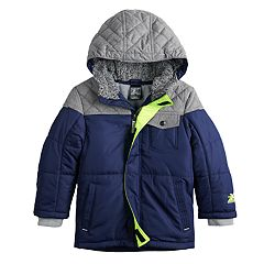 Boys 4-7 ZeroXposur Arthur Reflective Quilted Heavyweight Jacket