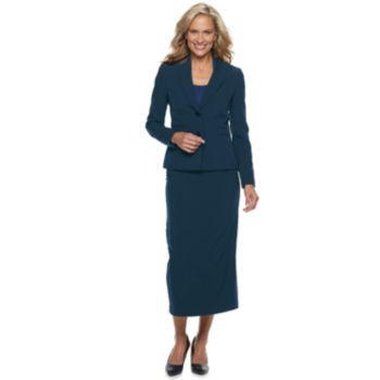 Women's Le Suit Midi Skirt Suit Set