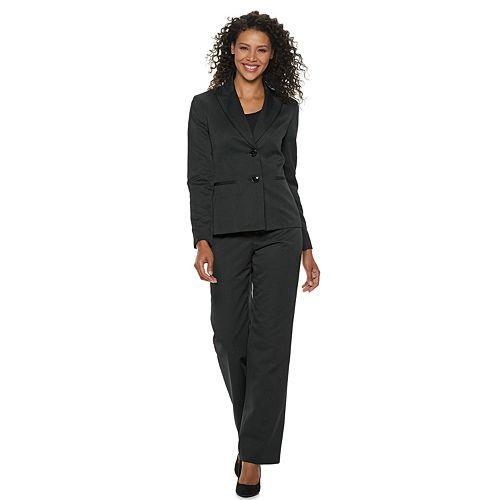 Women's Le Suit Pinstripe Pant Suit