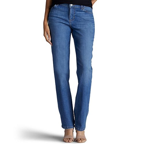 Petite Lee Relaxed Fit Straight-Leg Jeans