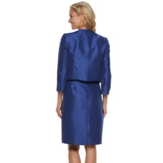 Women's Le Suit Shiny Jacket & Dress Set