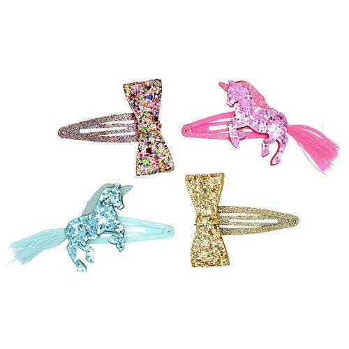 Girls Carter's 4-pack Unicorn & Bow Hair Clips